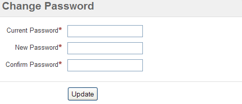Create change password Page
